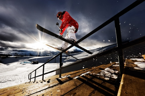 Sunset Rail at Snow Park, NZ