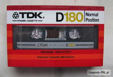TDK D180 Normal tape í pakka   180 mín !