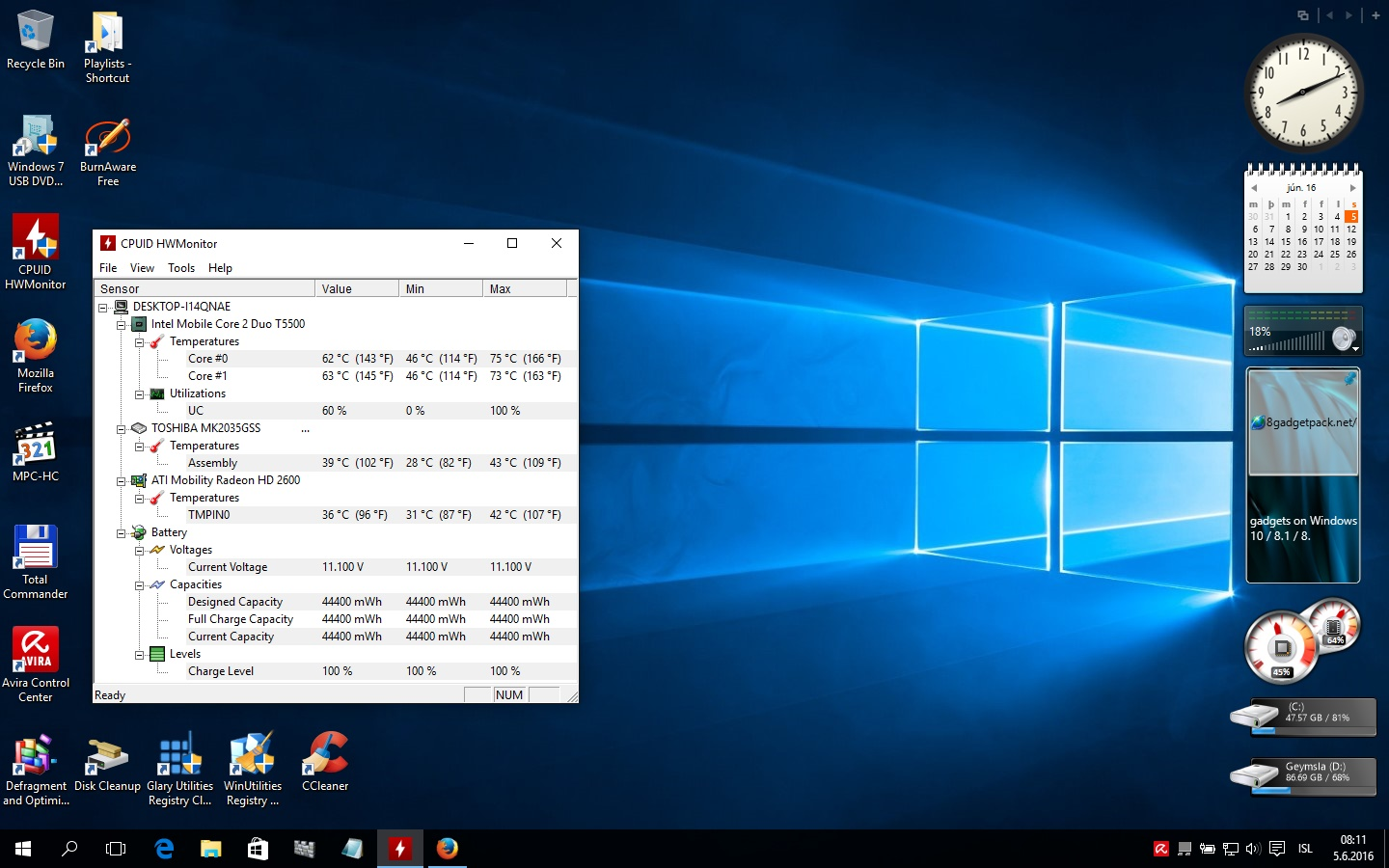 Desktop á windows 10 Pro